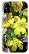 Winter Acconite And Crocus Flowers IPhone Case