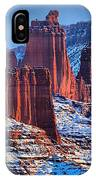 Winter At Fisher Towers IPhone Case