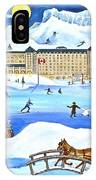 Winter At Lake Louise Chateau IPhone Case
