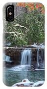 Winter At Mash Fork Falls IPhone Case
