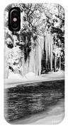 Winter At The Creek Monochrome IPhone Case