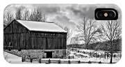 Winter Barn Monochrome IPhone Case