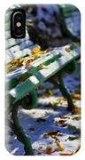 Winter Bench 3 IPhone Case