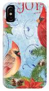 Winter Blue Cardinals-joy Card IPhone Case