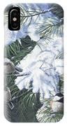 Winter Chickadees IPhone Case