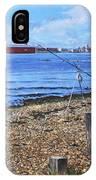 Winter Fishing At Weston Shore Southampton IPhone Case