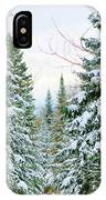 Winter Forest Landscape IPhone Case
