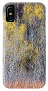 Winter Forest Landscape With Bare Trees IPhone Case