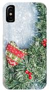 Winter Garland IPhone Case by Amanda Elwell