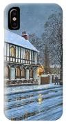 Winter Glow Parish Room Tickhill Yorkshire IPhone Case