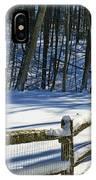 Winter Hut IPhone Case