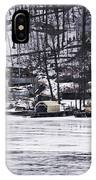 Winter Ice Lake Scene Hopatcong Covered Port IPhone Case