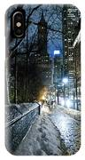 Winter In New York City IPhone Case