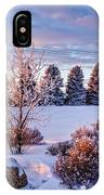 Winter In Pink Color IPhone Case