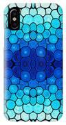 Winter Lights - Blue Mosaic Art By Sharon Cummings IPhone Case