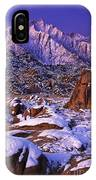 Winter Morning Alabama Hills And Eastern Sierras IPhone Case