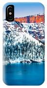 Winter Morning At Crater Lake IPhone Case