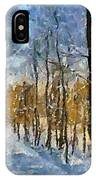 Winter Morning In The Forest IPhone Case