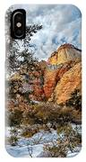 Winter Morning In Zion IPhone Case