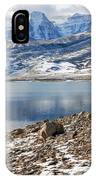 Winter Mt. Timpanogos And Deer Creek Reservoir IPhone Case