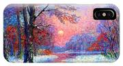 Winter Nightfall, Snow Scene  IPhone Case