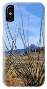 Winter Ocotillo Garden IPhone Case