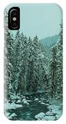 Winter On The American River IPhone Case