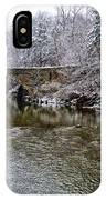 Winter Scene At Valley Green IPhone Case