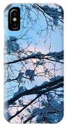 Winter Sky And Snowy Japanese Maple IPhone Case