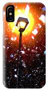 Winter Snow Storm At Night IPhone Case