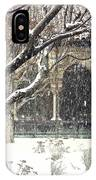 Winter Storm At The Cloisters 3 IPhone Case