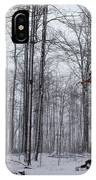 Winter Storm In The Forest IPhone Case