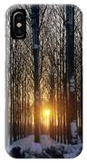 Winter Sunset Through The Trees IPhone Case