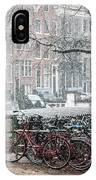 Winter Time In Amsterdam IPhone Case