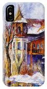 Winter Town - Palette Knife Oil Painting On Canvas By Leonid Afremov IPhone Case