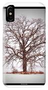 Winter Tree 8x10 Crop With White Bars IPhone Case