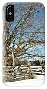 Winter Tree And Fence IPhone Case