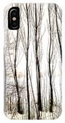 Winter Tree Fence 13283 IPhone Case