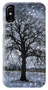 Winter Tree In Snowfall IPhone Case