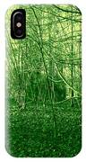 Winter Trees Green IPhone Case