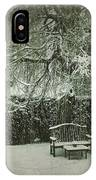 Winter Willow And Snow Covered Seat IPhone Case