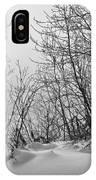 Winter Wonderland Monochrome IPhone Case
