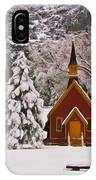 Winter Yosemite Chapel IPhone Case