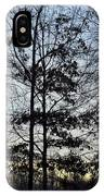 Winter's Trees At Dusk IPhone Case