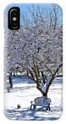 Wintry Day At The Park IPhone Case