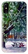 Wintry  Snowy Trees IPhone Case