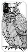 Wisdom Owl IPhone Case