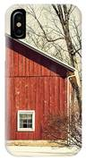Wise Old Barn Winter Time IPhone Case