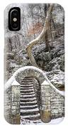 Wissahickon Steps In The Snow IPhone Case