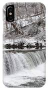 Wissahickon Waterfall In Winter IPhone Case